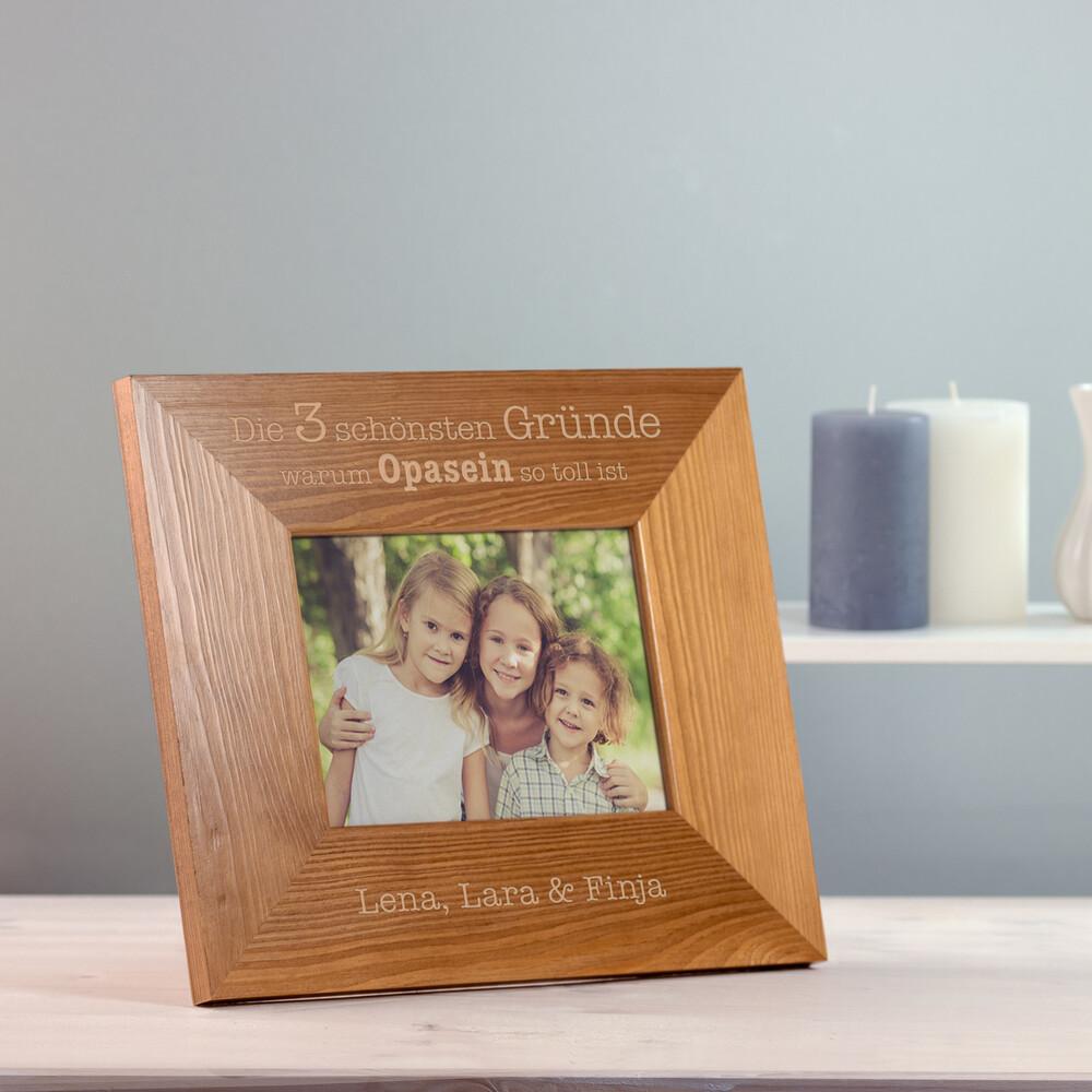 Bilderrahmen aus Holz mit Gravur - Opasein - Personalisiert