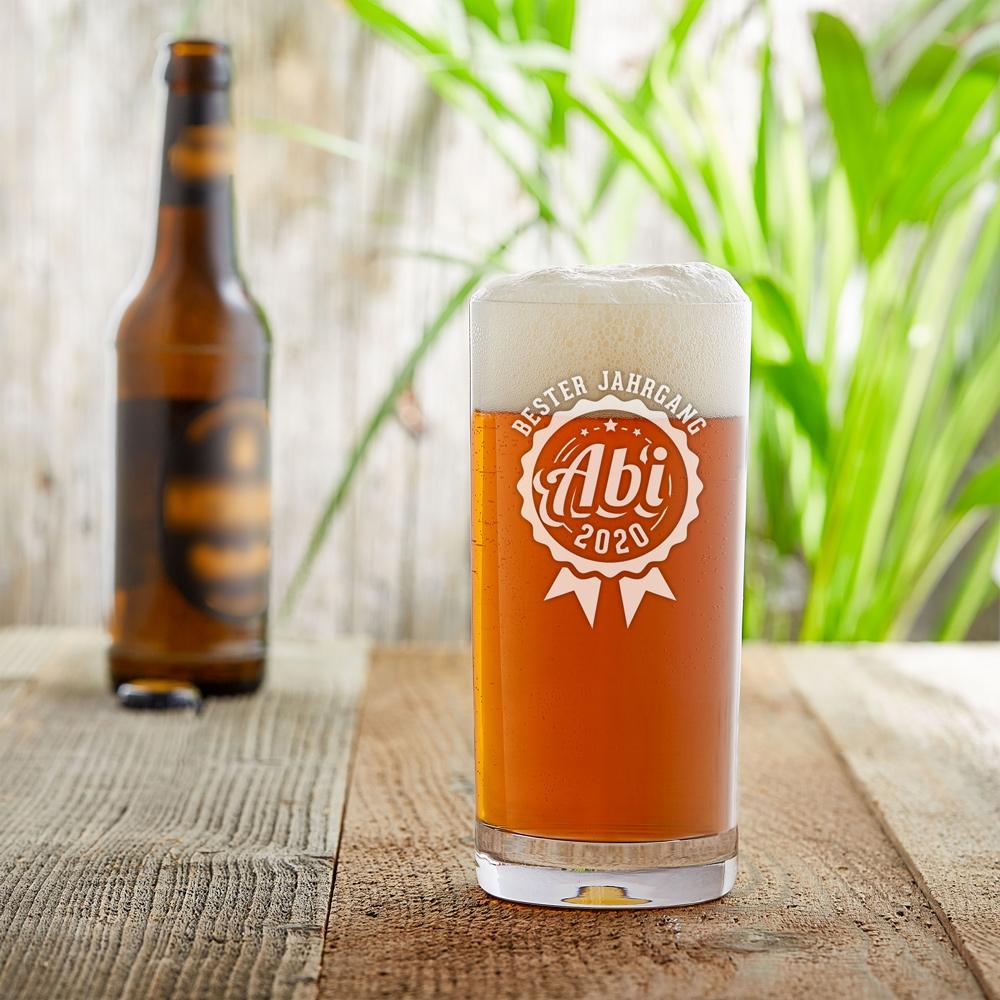 Craft Bier Glas mit Gravur - Abitur Jahrgang - Personalisiert