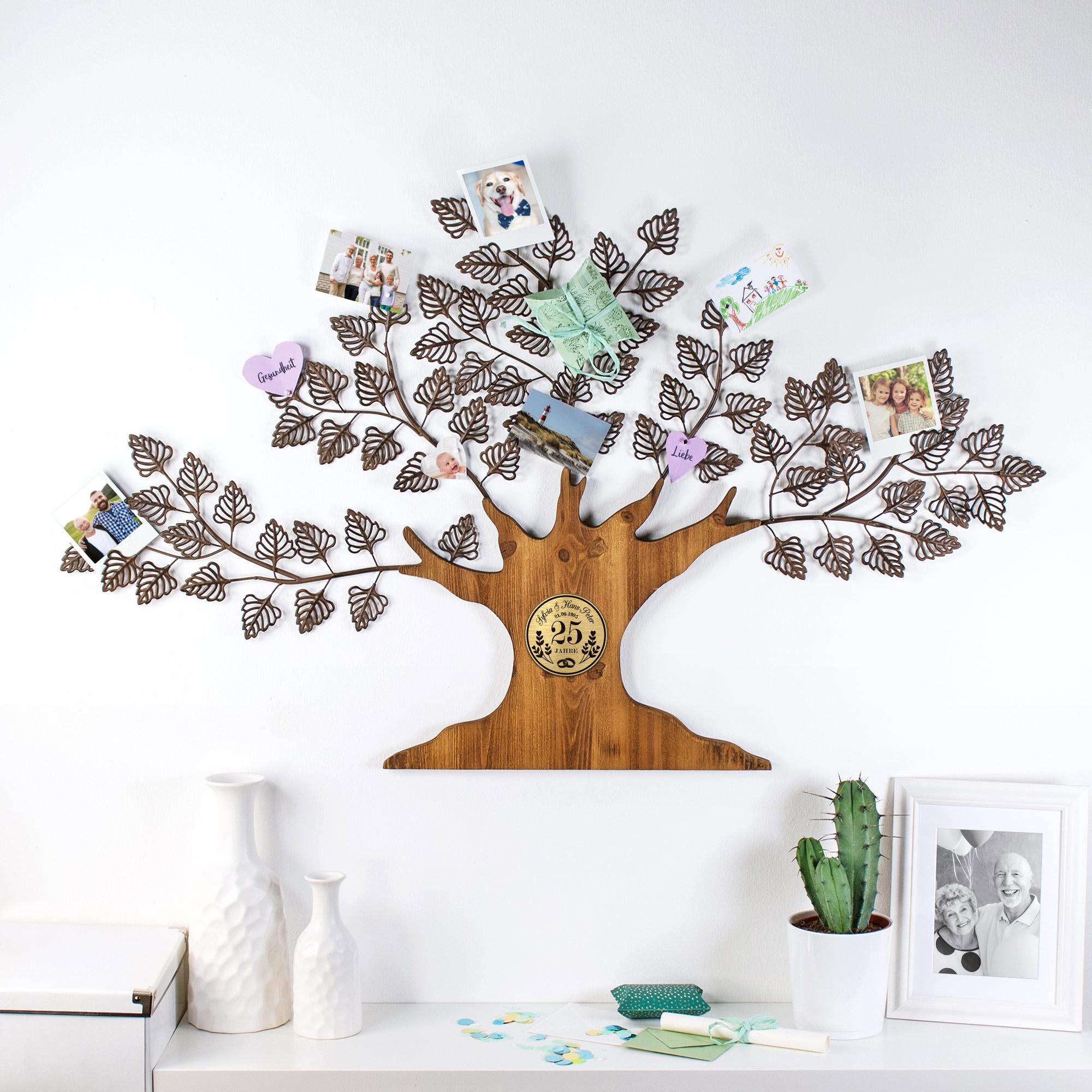 Wanddeko Baum Silberhochzeit - Personalisiert