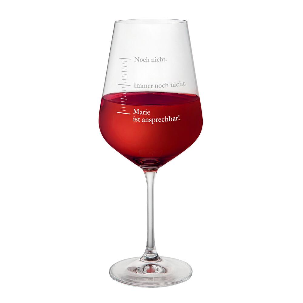 Weinglas mit Gravur - Masseinheiten Noch Nicht - Personalisiert