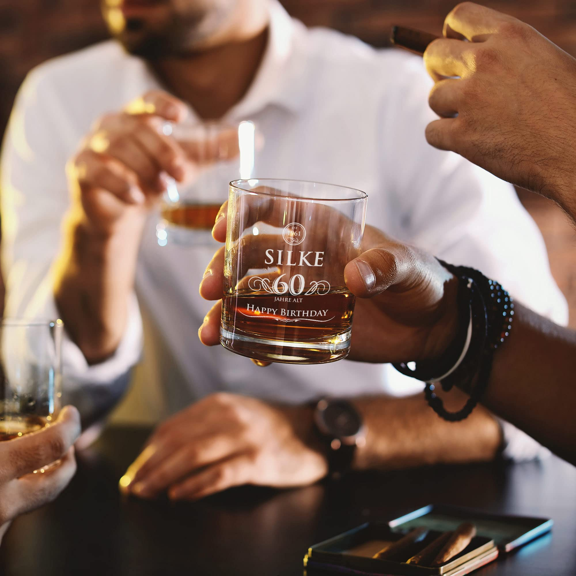 Whiskyglas mit Gravur zum Geburtstag - Happy Birthday