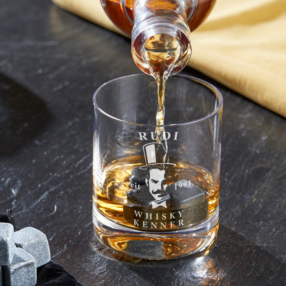 Whiskyglas mit Gravur Gentleman