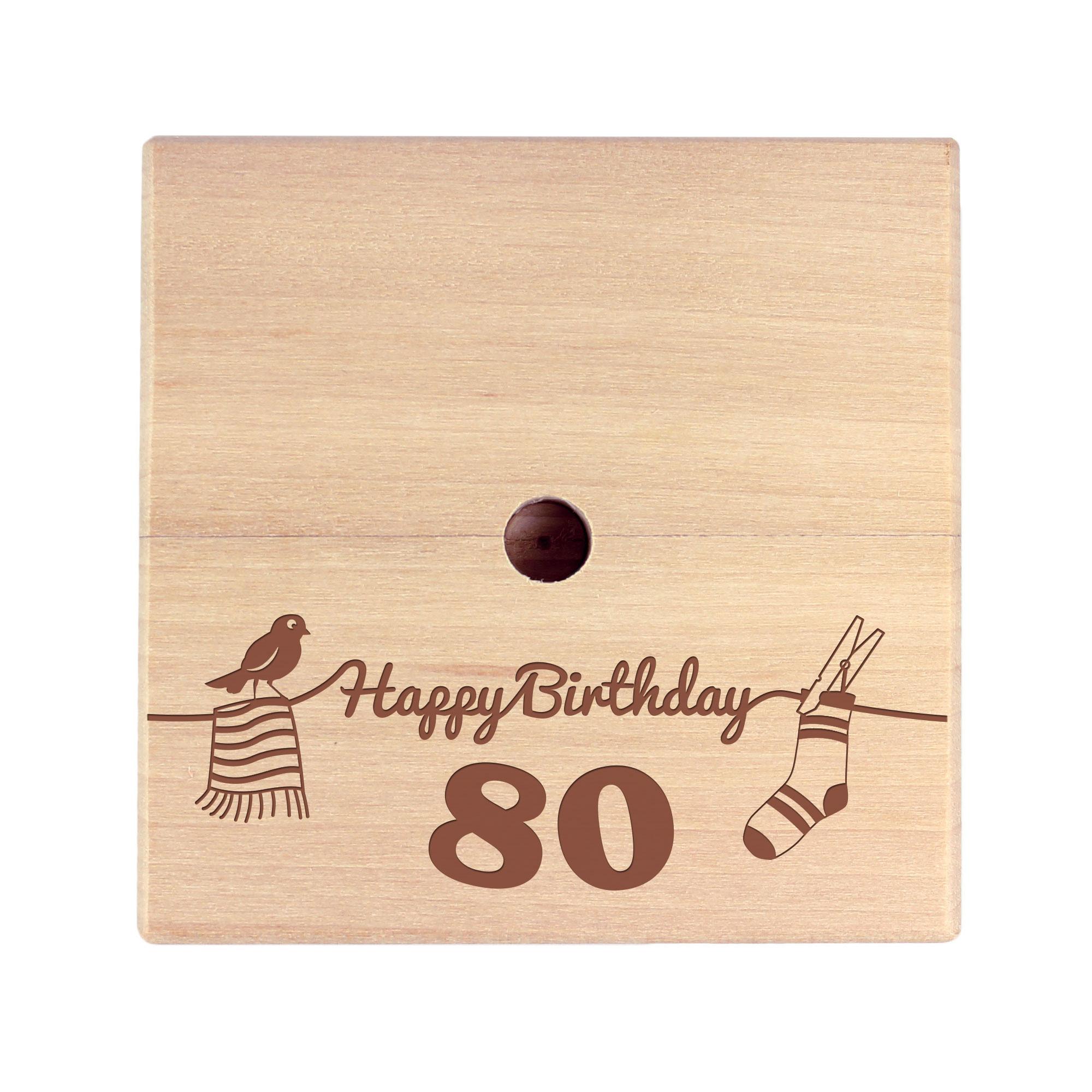 Geld Wäschespinne zum 80. Geburtstag