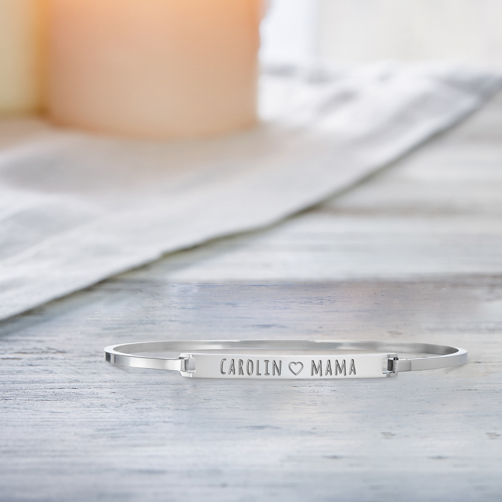 Armreif mit Gravur für Mama - Silber - Personalisiert