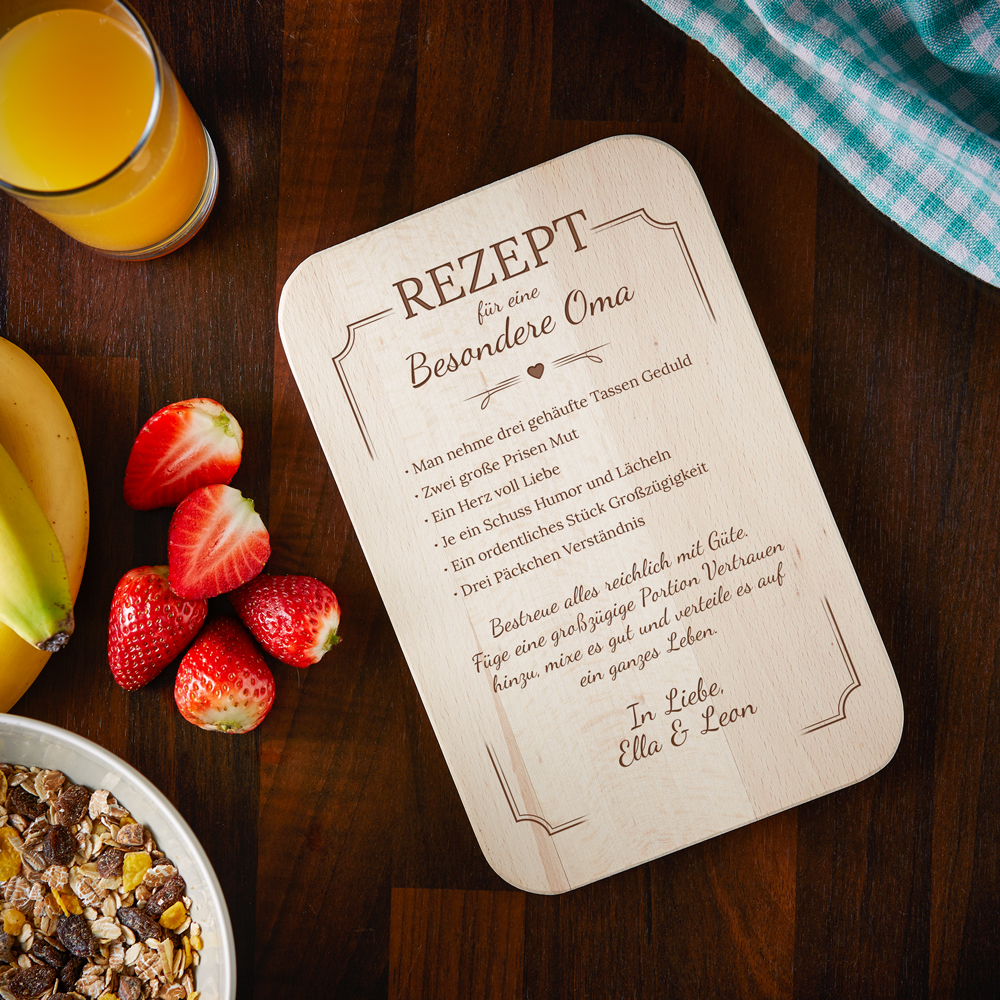 Frühstücksbrett für Oma - Rezept - Personalisiert