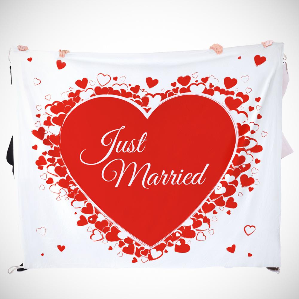 Hochzeitslaken mit romantischem Motiv