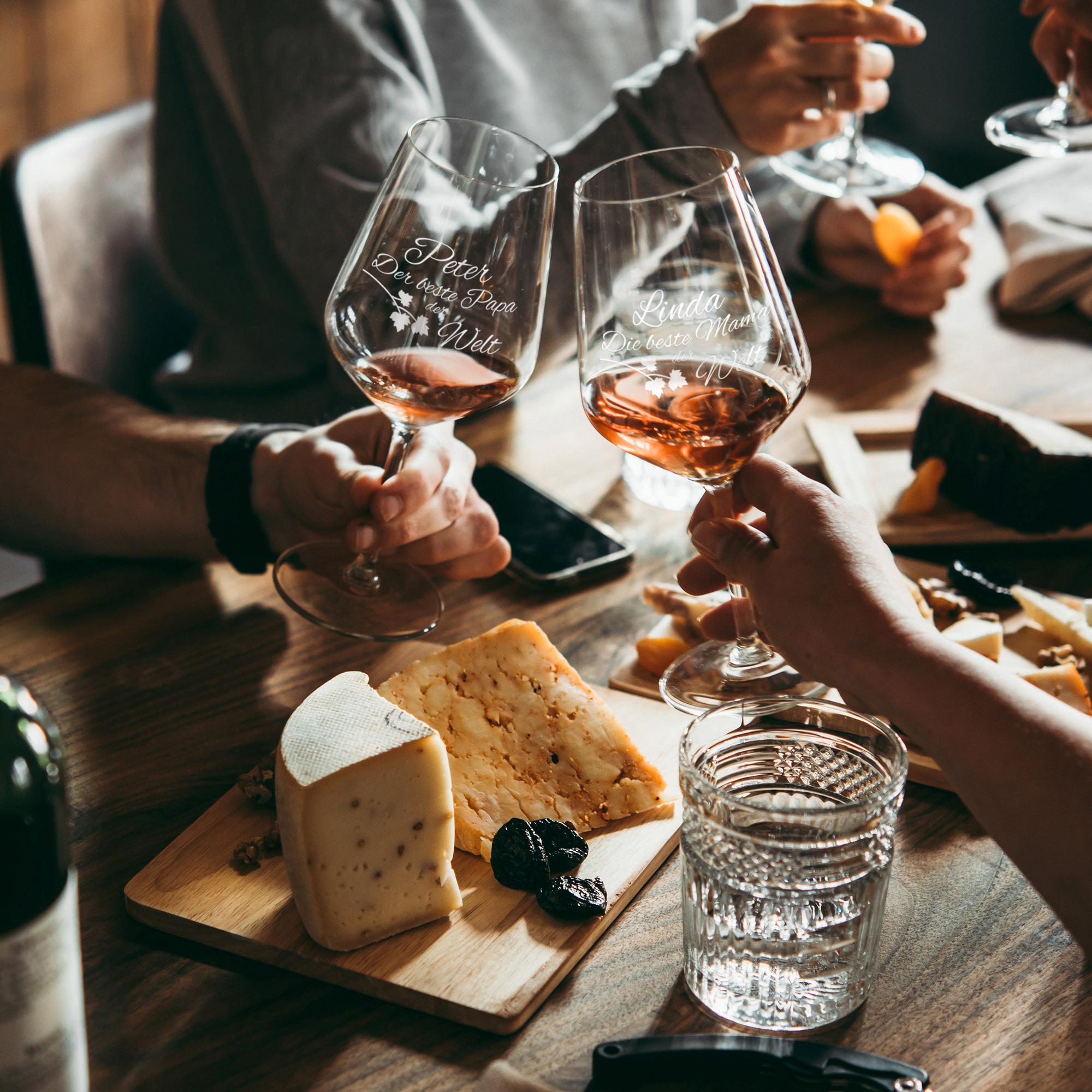 Weinglas - Beste Eltern - Personalisiert - 2er Set