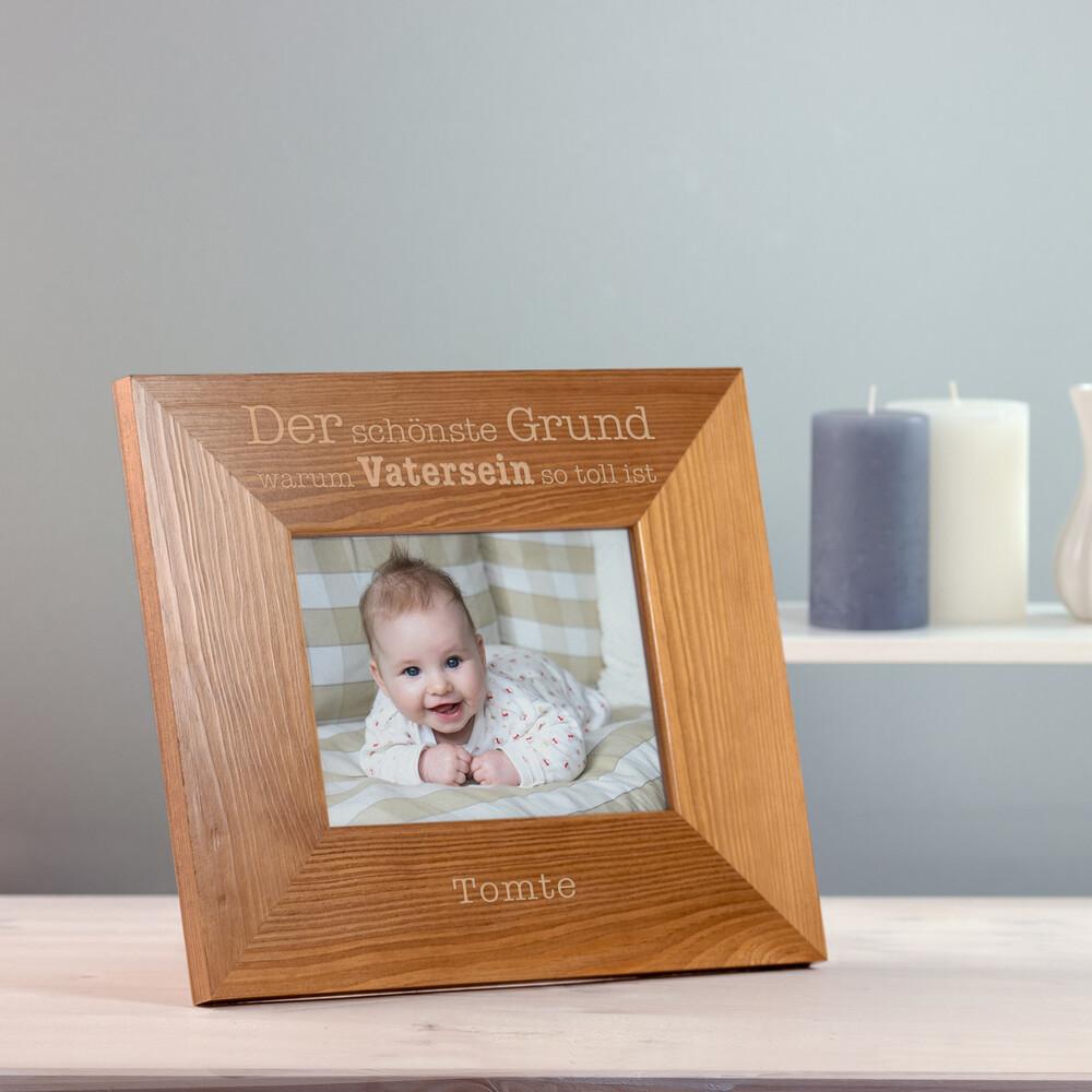 Bilderrahmen - Gute Gründe Vatersein - Personalisiert