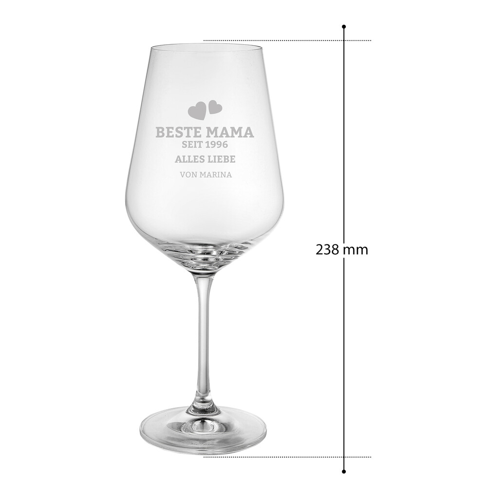 Weinglas mit Gravur - Beste Mama seit - Personalisiert