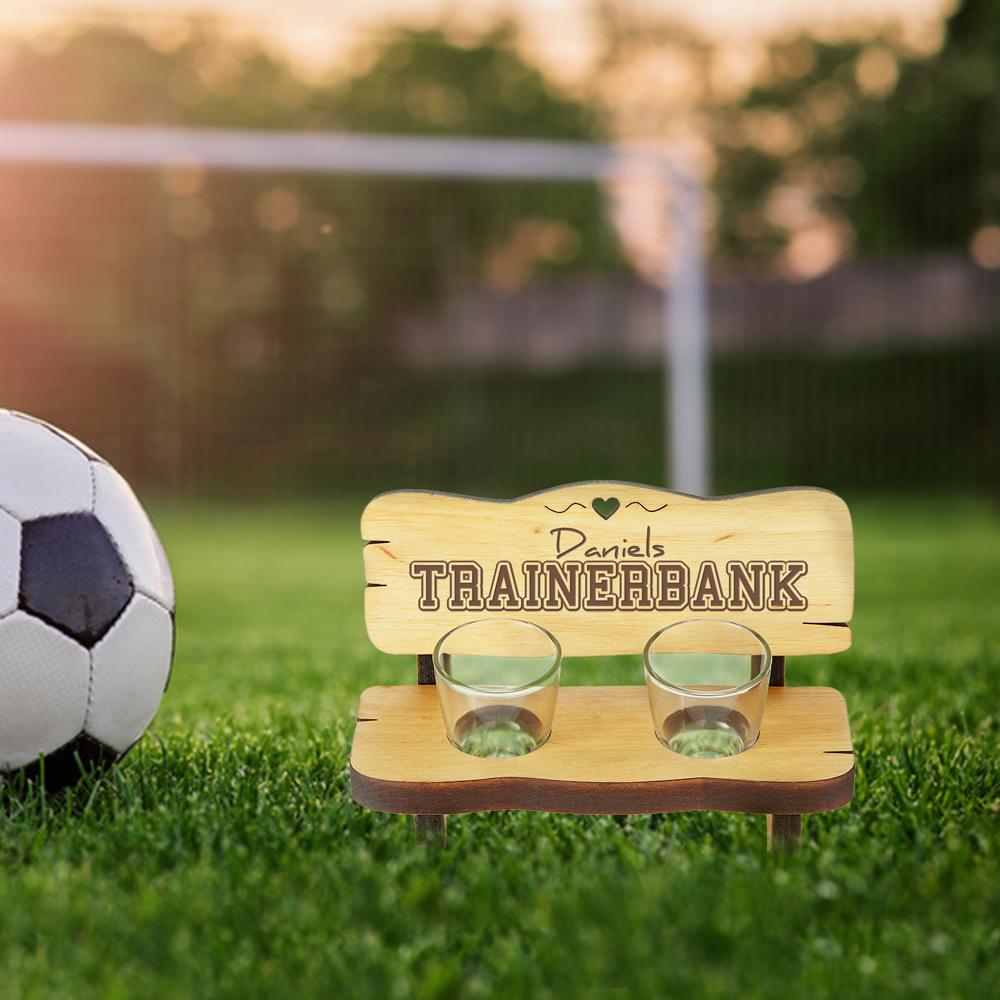 Schnapsbank mit Gravur - Trainerbank - Personalisiert