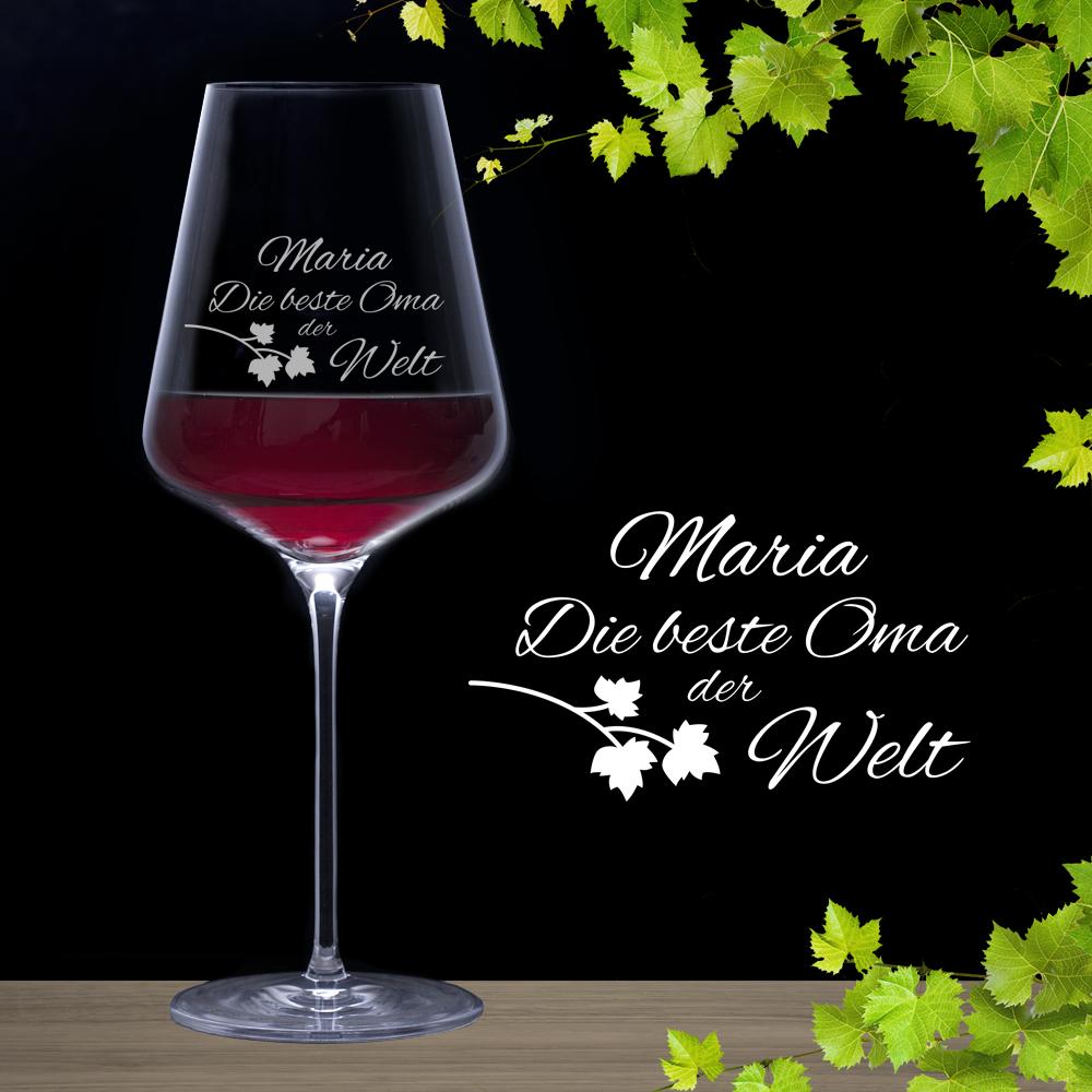 Weinglas für die beste Oma
