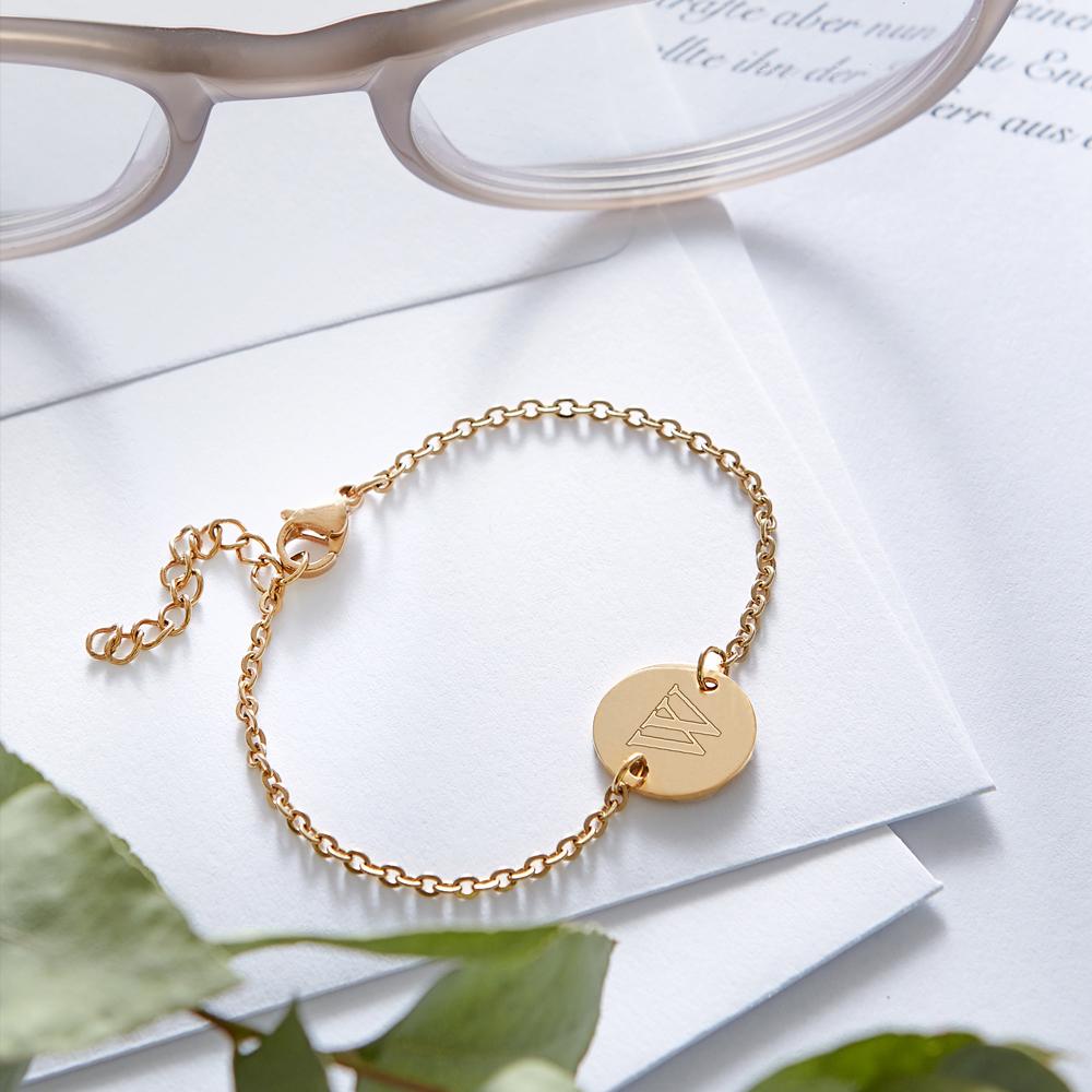 Armkettchen mit Gravur - Initial - Gold - Personalisiert