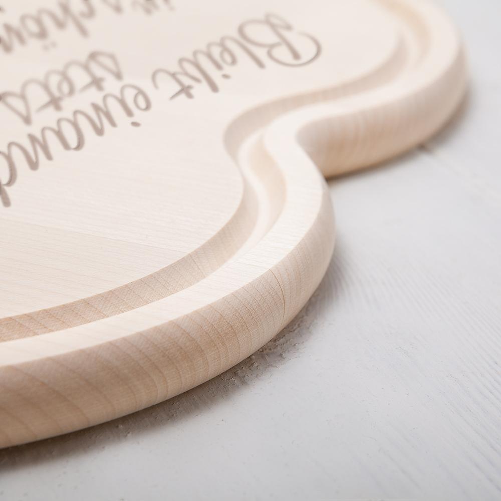 Herzbrett zur Hochzeit - Spruch - Herzen - Personalisiert