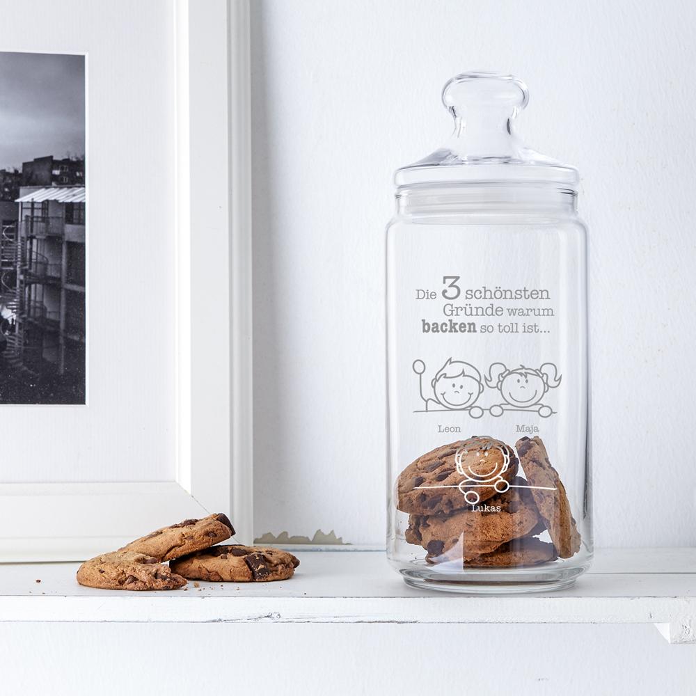 Keksglas mit Gravur- Warum ich es liebe zu backen