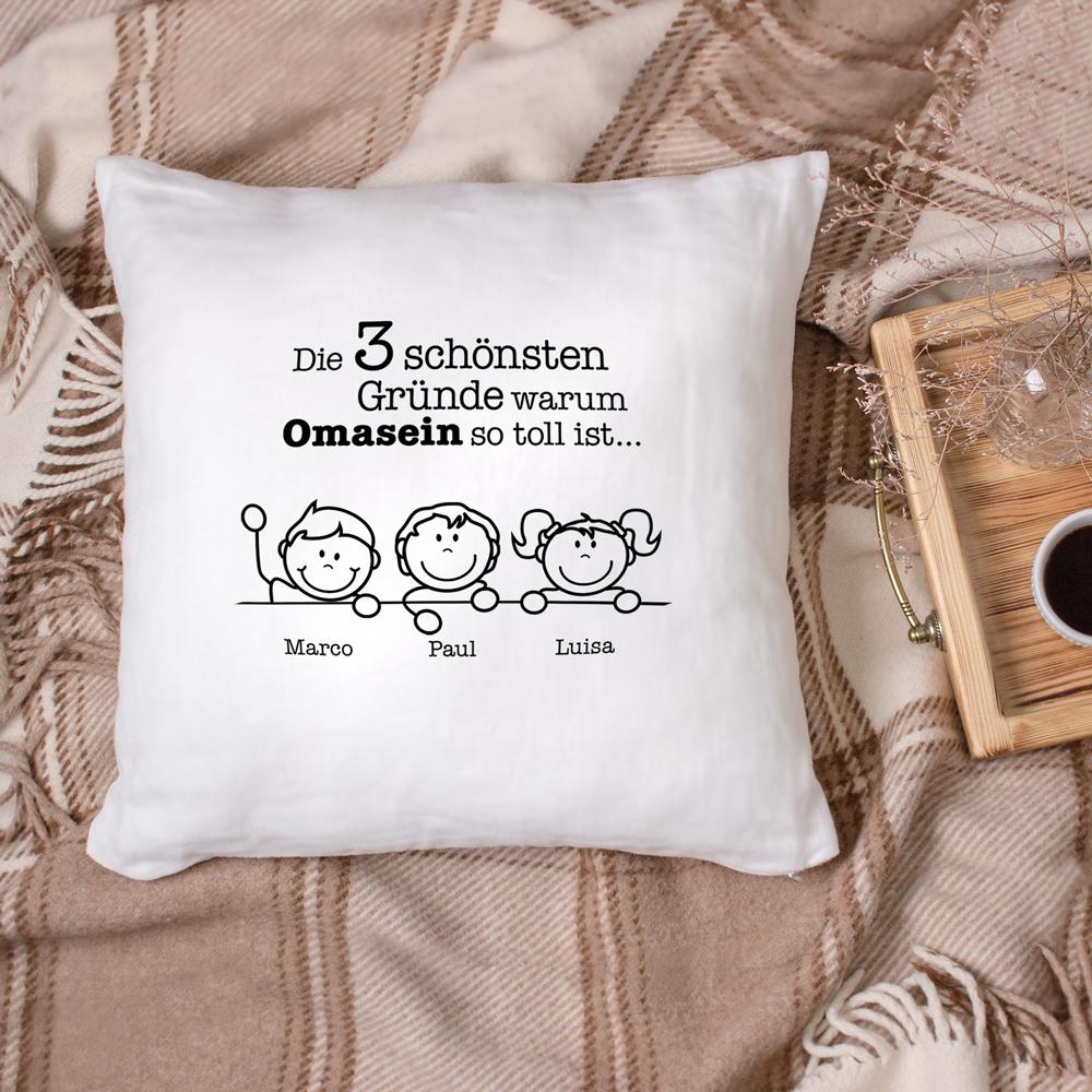 Bedrucktes Kissen - Warum ich es liebe Oma zu sein - Personalisiert