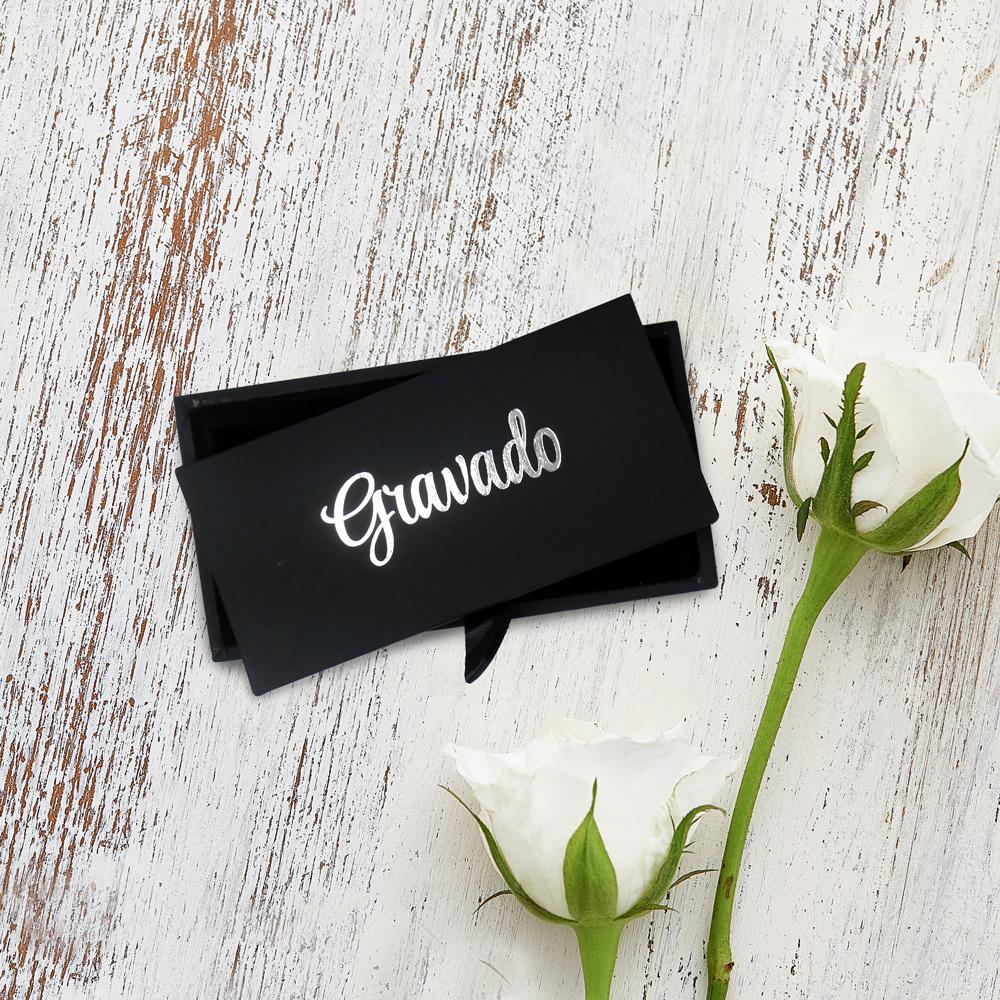 Manschettenknöpfe mit Gravur - Bester Papa - Quadratisch - Silber